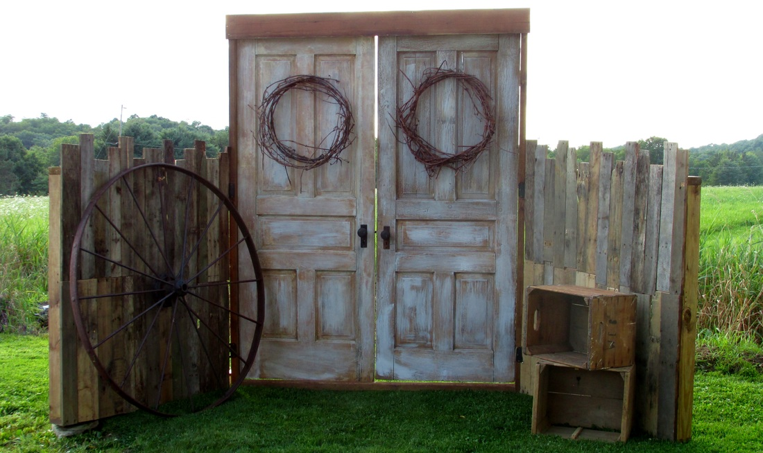 Rustic Three Door Display With Buffet